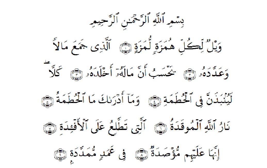 Asbabun Nuzul Surah Al Humazah Alquranmulia