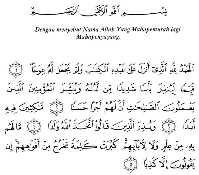 Tafsir Ibnu Katsir Surah Al Kahfi 1 Alqur Anmulia