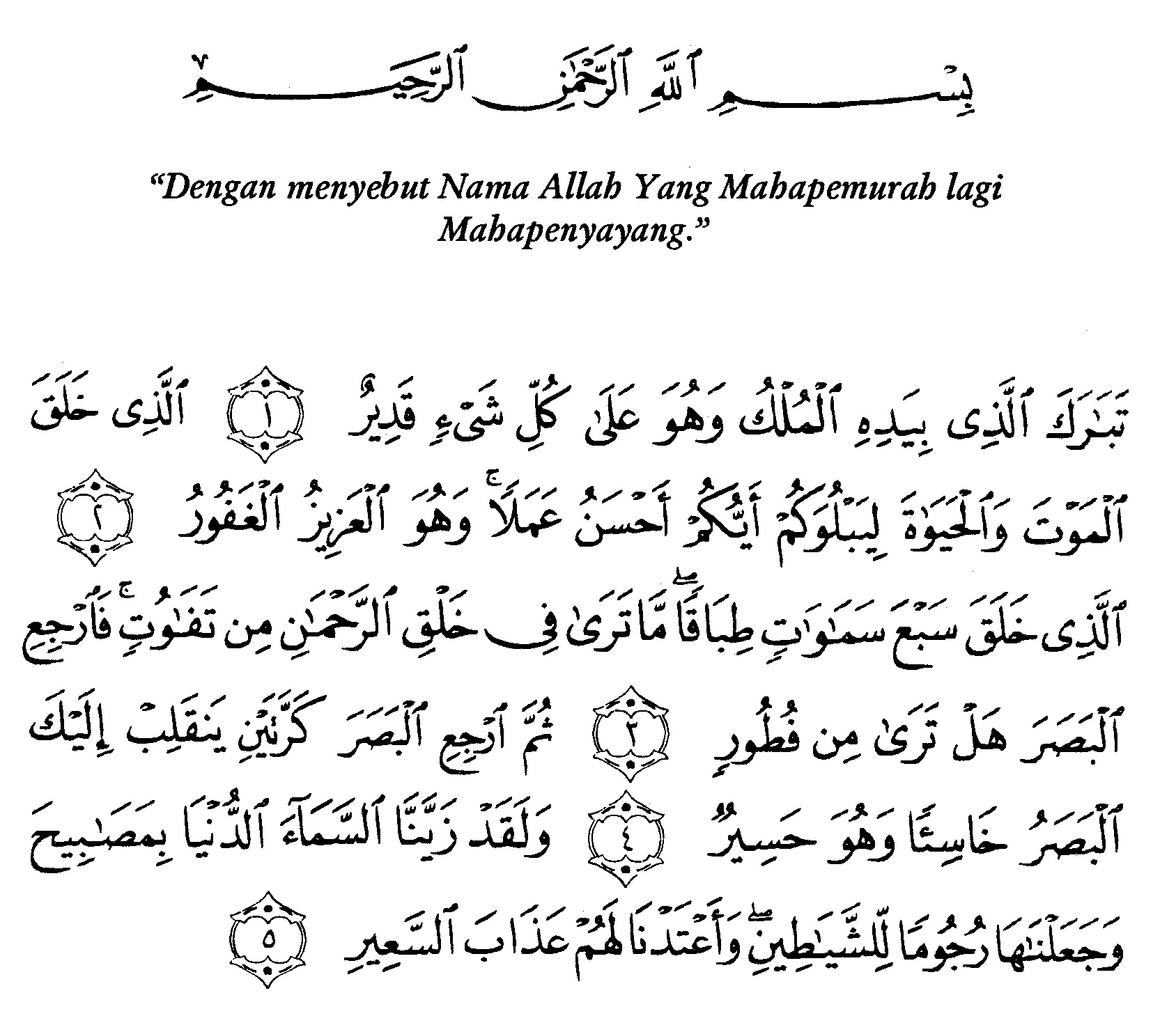 Tafsir Ibnu Katsir Surah Al Mulk 1 Alquranmulia