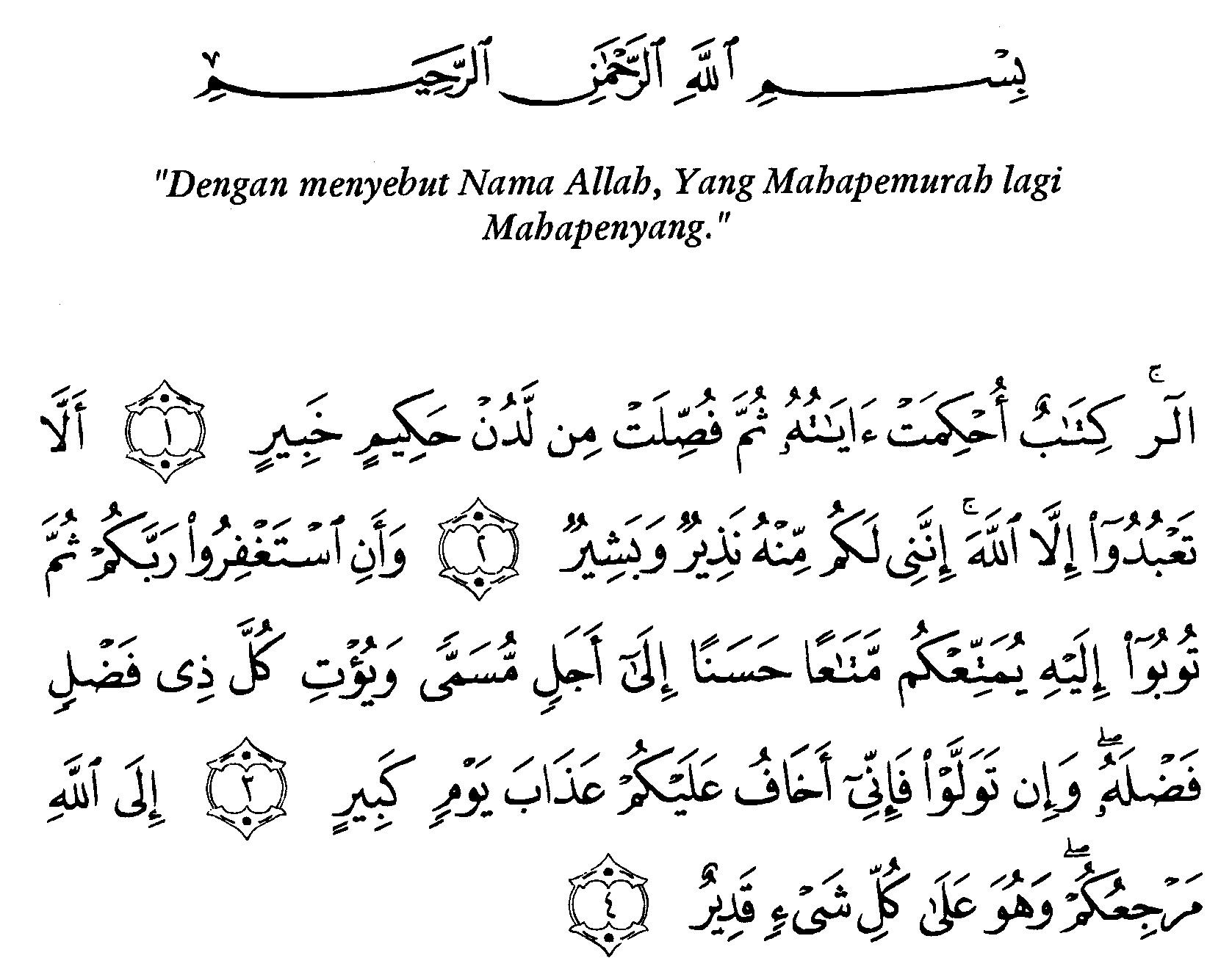 Tafsir Ibnu Katsir Surah Huud 1 Alquranmulia