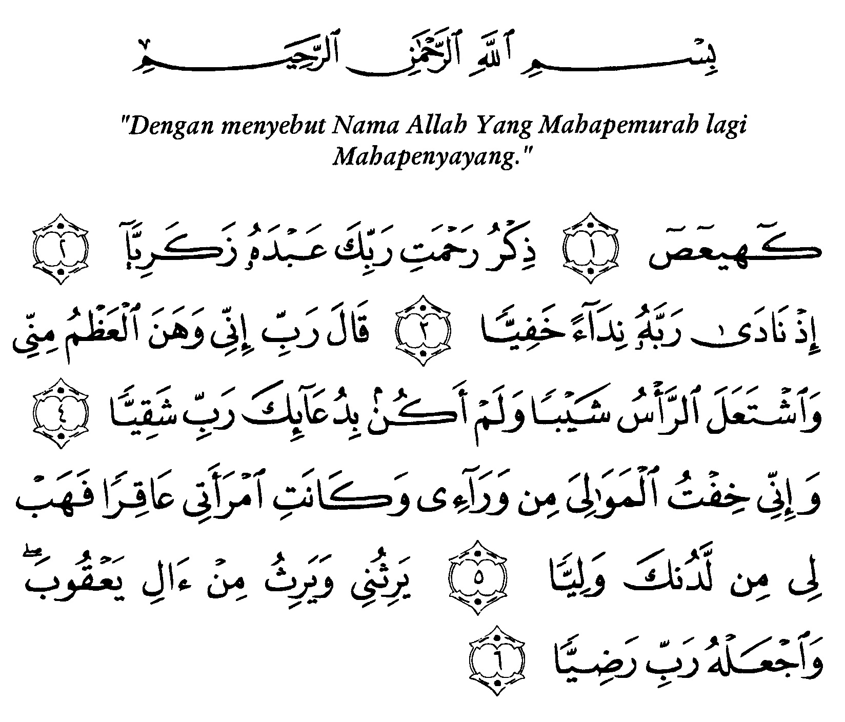 Tafsir Ibnu Katsir Surah Maryam Ayat 1 6 Alquranmulia