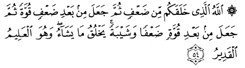 tulisan arab alquran surat ar ruum ayat 54