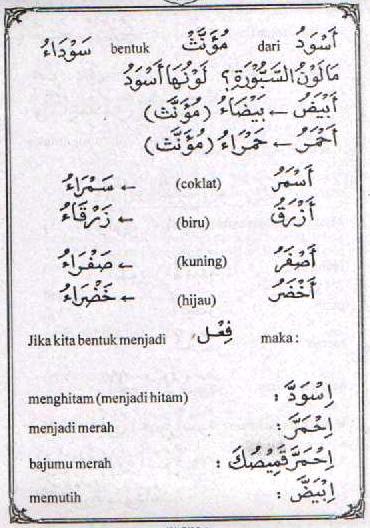 f18 Bahasa Arab Launa (Warna)