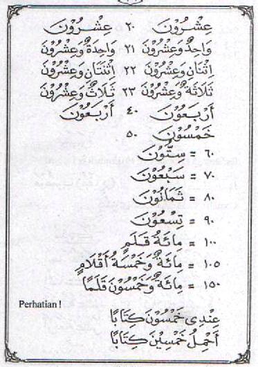 f26 Bahasa Arab 'Adada (Hitungan)