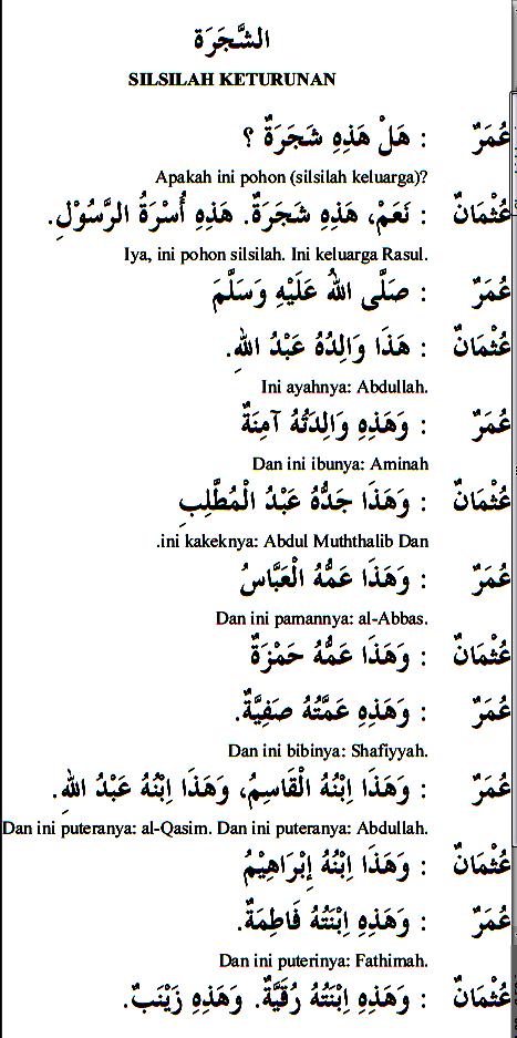 Percakapan Bahasa Arab 08 ttg keturunan