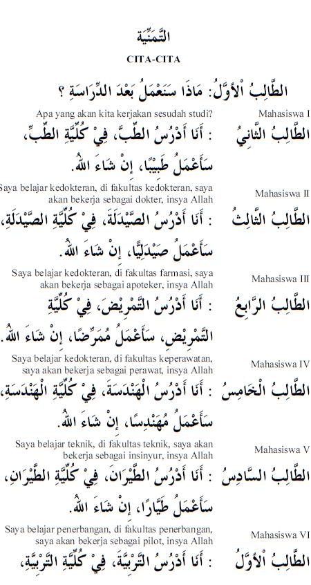Percakapan Bahasa Arab 26a Cita-Cita
