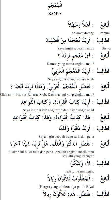 Percakapan Bahasa Arab 28 Kamus