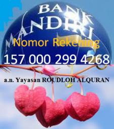 Rekening Yayasan Roudloh Al-Qur'an