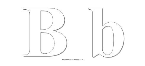 Mewarnai gambar huruf Alphabet B anak muslim