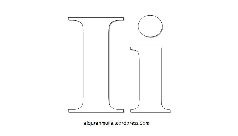 Mewarnai Gambar Huruf Alphabet I Anak Muslim Alquranmulia