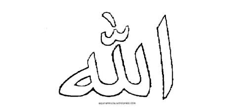 mewarnai lafal Allah utk anak muslim