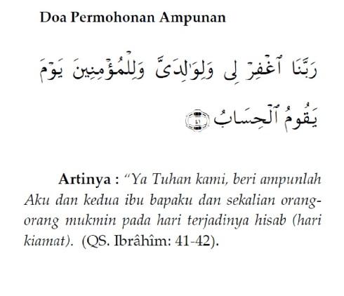 Doa Permohonan Ampunan