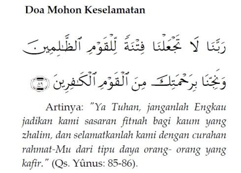 9. Doa Mohon Keselamatan