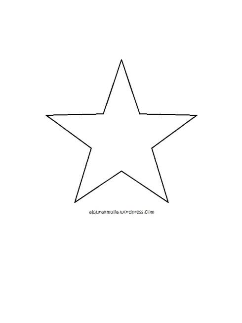 Mewarnai gambar bintang anak muslim