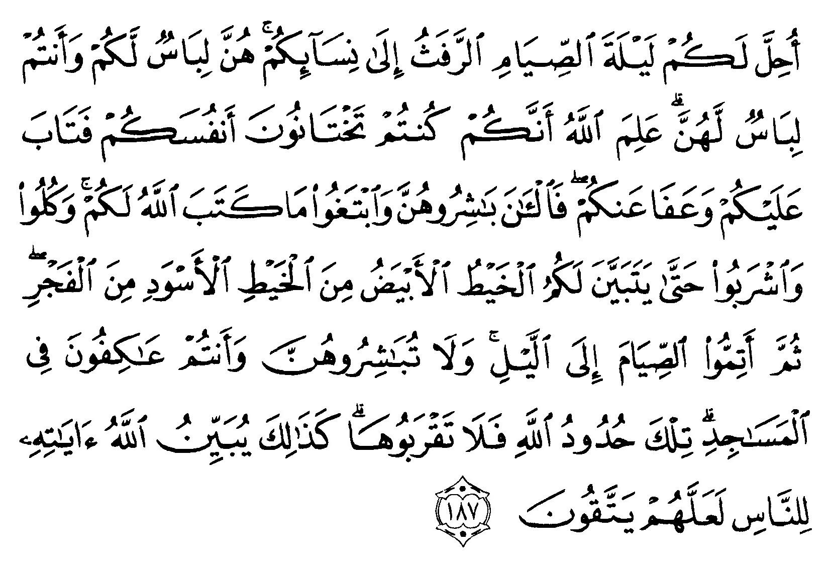 Tafsir Ibnu Katsir Surat Al Baqarah Ayat 187 Alqur Anmulia