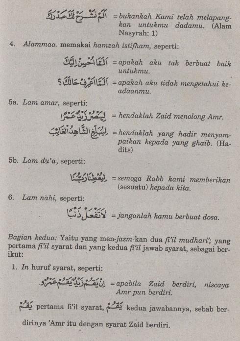 belajar bahasa arab ilmu nahwu amil yang menjazmkan fiil mudhari'2