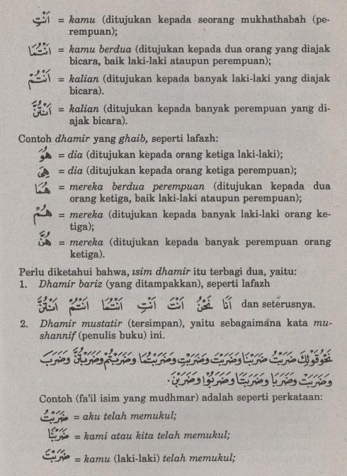 belajar bahasa arab ilmu nahwu fa'il isim yang mudhmar2