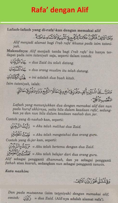 belajar bahasa arab ilmu nahwu rafa' dengan alif