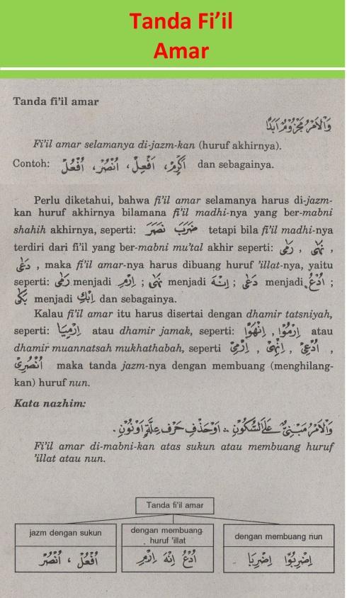 belajar bahasa arab ilmu nahwu tanda fi'il amar