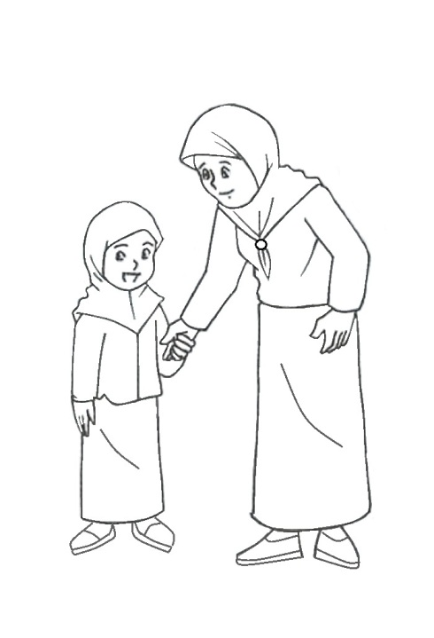 Gambar Anggota Keluarga Untuk Diwarnai Belajar