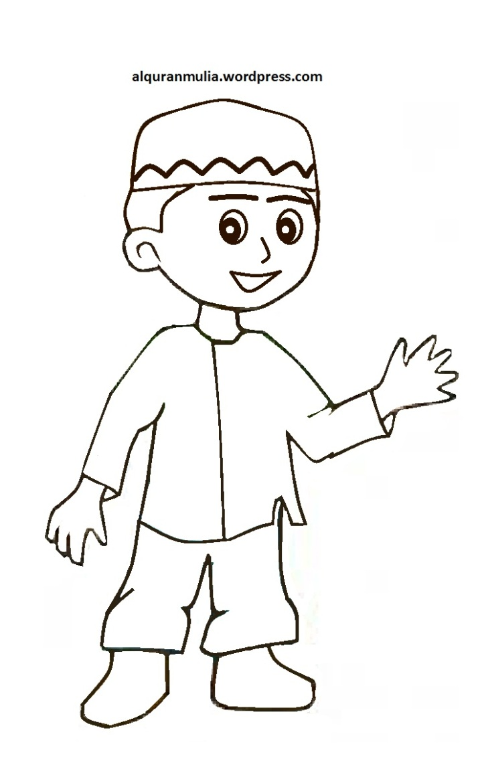 Gambar Kartun Ana Muslim 2018 Medsos Anak Image Allofpicts