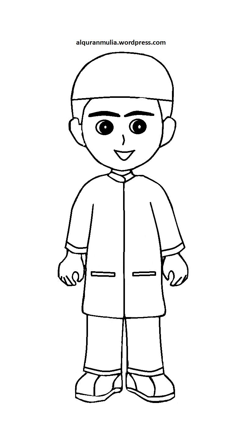 Kumpulan Animasi Busana Muslim Design Kartun