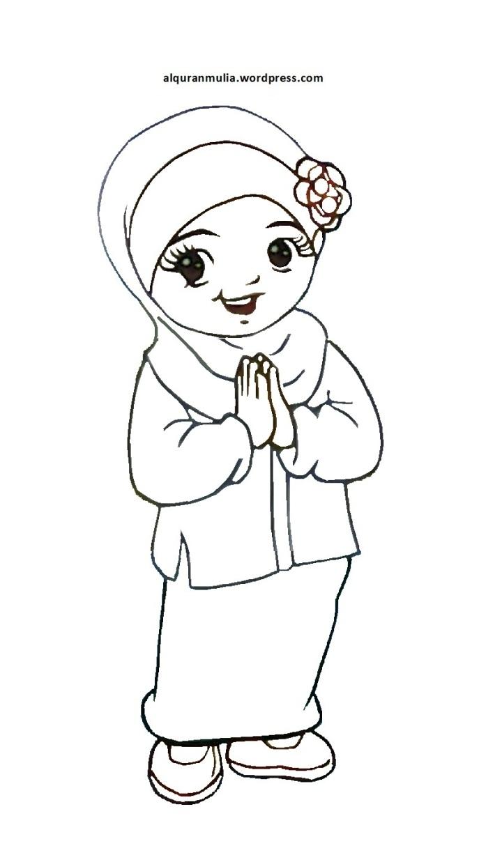 Koleksi Gambar Kartun Ana Muslimah Medsos Kini