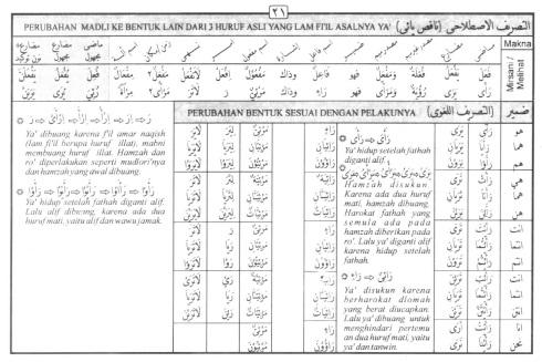 Tasrif kata ra-aa (melihat)