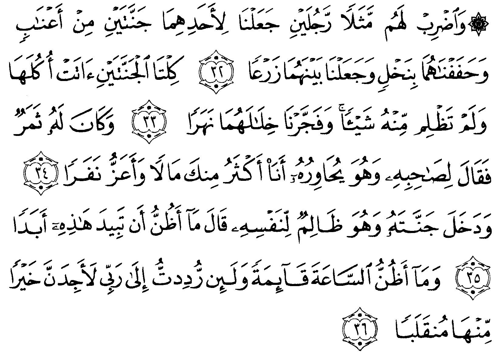 Tafsir Ibnu Katsir Surah Al Kahfi Ayat 32 36 Alquranmulia