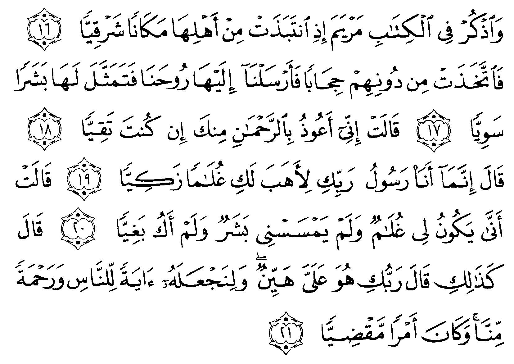 Tafsir Ibnu Katsir Surah Maryam Ayat 16 21 Alquranmulia