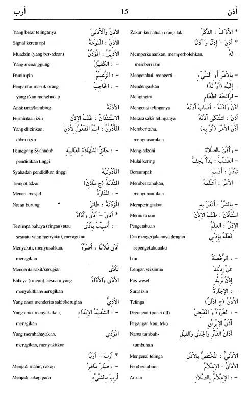 15. kamus arab almunawir -adzana-araba