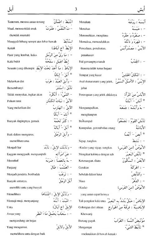 3. kamus arab almunawir -abasya-abala