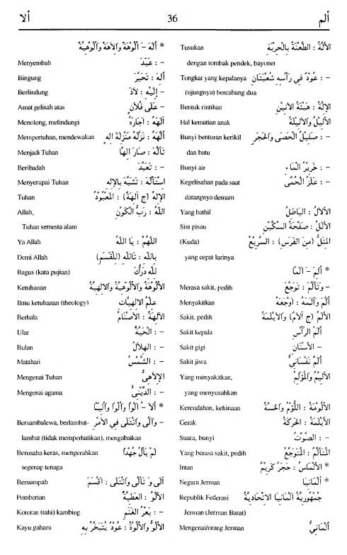 36. kamus arab almunawir -alama-alaa