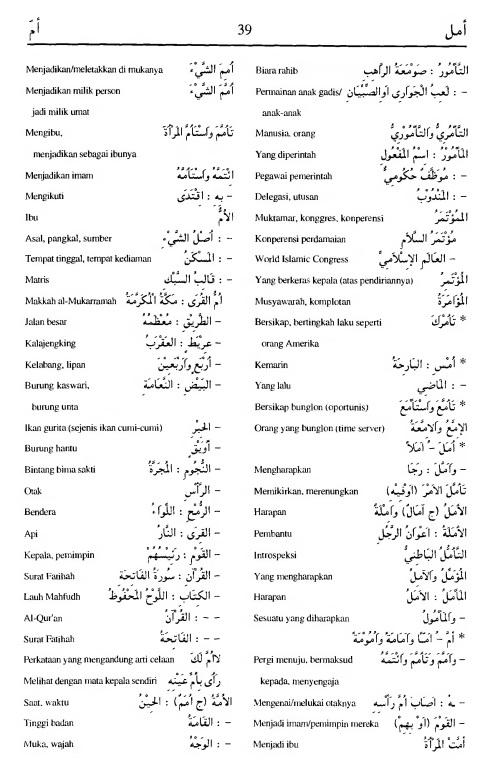 39. kamus arab almunawir amala-amma