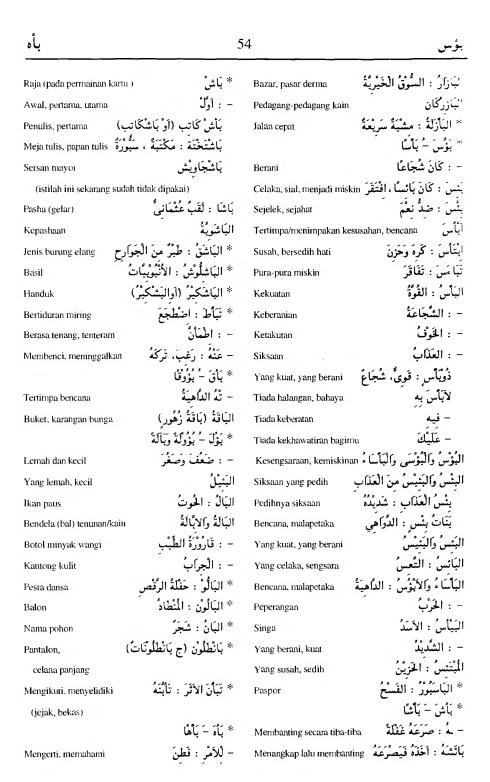 54. kamus arab almunawir -ba-asa--ba-aHa