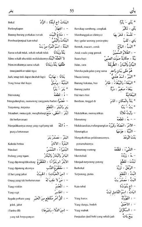 55. kamus arab almunawir -ba-aa--batara