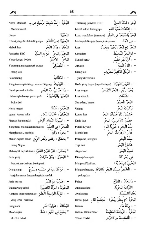 60. kamus arab almunawir -bahara-bahara