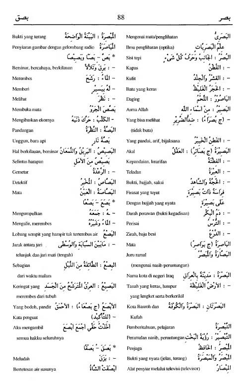 88. kamus arab almunawir -bashara-bashaqa