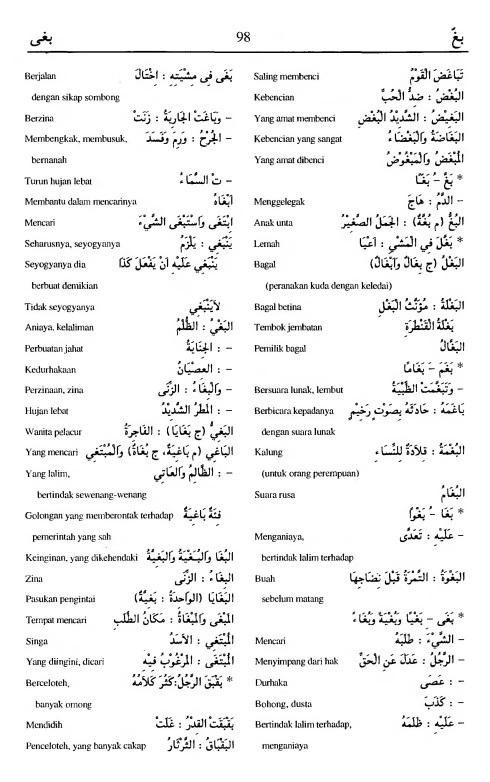 98. kamus arab almunawir -baghgha-baghaa