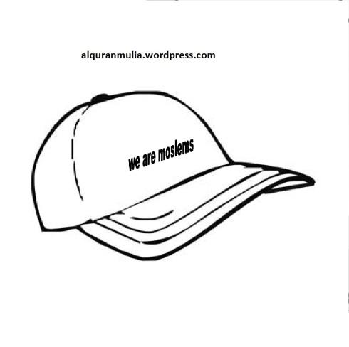 Mewarnai gambar  topi anak muslim