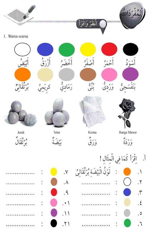 percakapan bahasa arab tsanawiyah - al-alwaan -warna