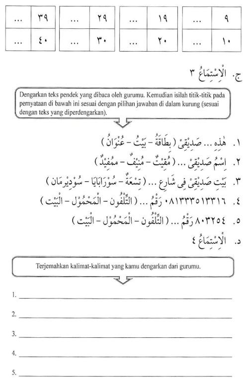percakapan bahasa arab tsanawiyah - al-unwaanu - alamat15