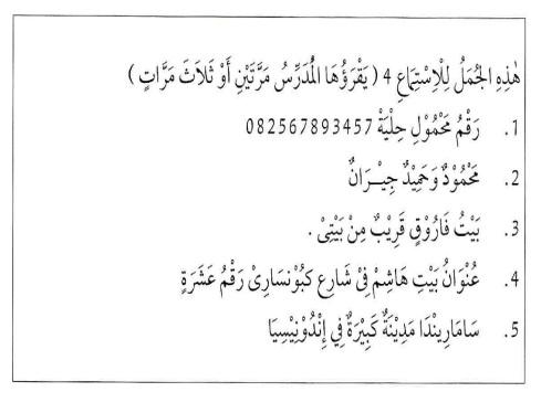 percakapan bahasa arab tsanawiyah - al-unwaanu - alamat16