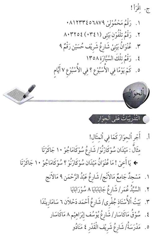 percakapan bahasa arab tsanawiyah - al-unwaanu - alamat4