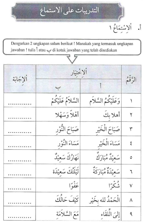 percakapan bahasa arab tsanawiyah - fil fashli- di kelas18