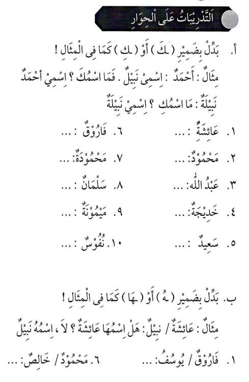 percakapan bahasa arab tsanawiyah - fil fashli- di kelas7