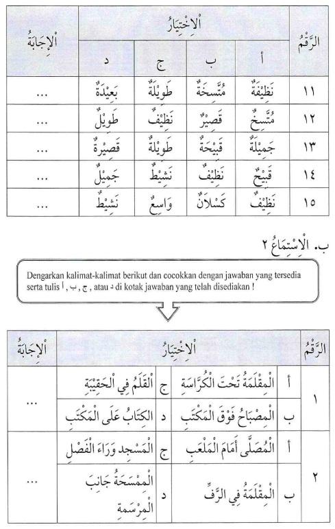 percakapan bahasa arab tsanawiyah -hal yang berkenaan dengan sekolah16