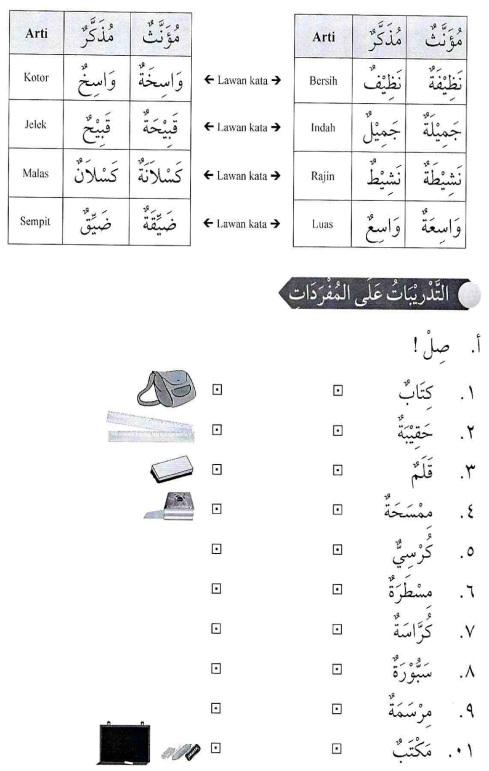 percakapan bahasa arab tsanawiyah -hal yang berkenaan dengan sekolah3