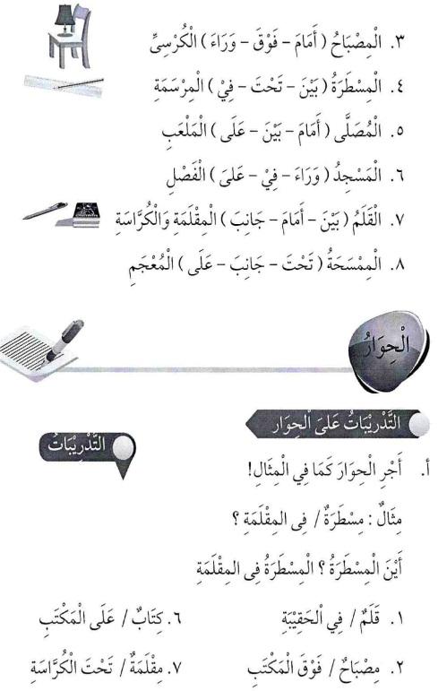 percakapan bahasa arab tsanawiyah -hal yang berkenaan dengan sekolah5