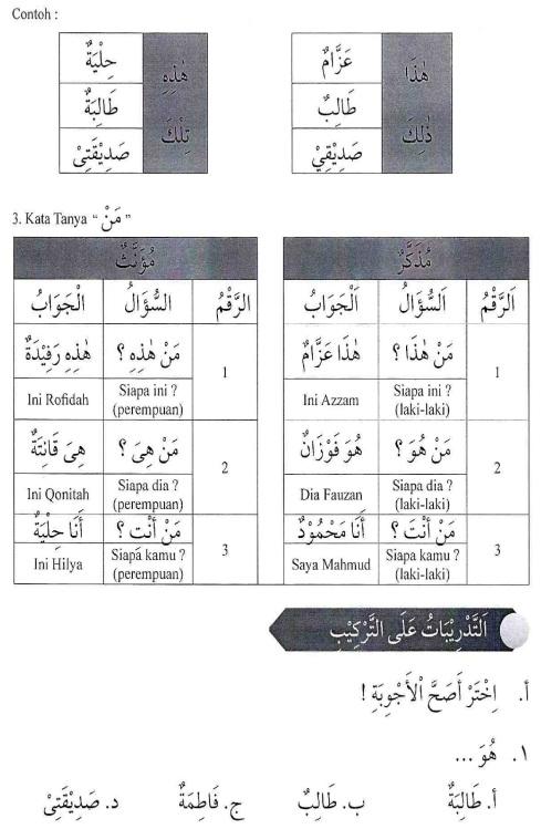 percakapan bahasa arab tsanawiyah - man Haadzaa - mengenal sesuatu6